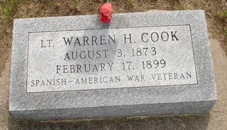 COOK, LT. WARREN H. - Clinton County, Iowa   LT. WARREN H. COOK