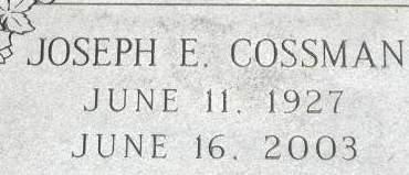 COSSMAN, JOSEPH E. - Clinton County, Iowa   JOSEPH E. COSSMAN