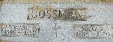 COSSMAN, MARY K. - Clinton County, Iowa | MARY K. COSSMAN