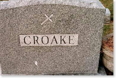 CROAKE, FAMILY MONUMENT - Clinton County, Iowa | FAMILY MONUMENT CROAKE