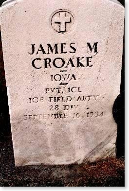 CROAKE, JAMES M. - Clinton County, Iowa | JAMES M. CROAKE