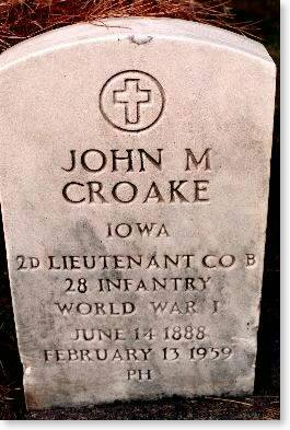 CROAKE, JOHN M. - Clinton County, Iowa | JOHN M. CROAKE