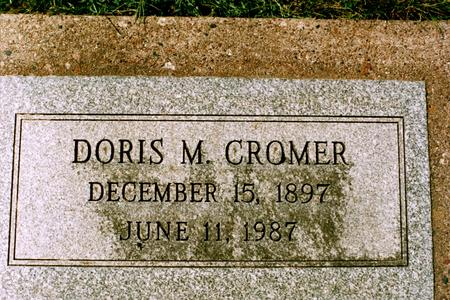 CROMER, DORIS MARY - Clinton County, Iowa | DORIS MARY CROMER