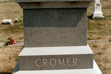 CROMER, FAMILY MONUMENT - Clinton County, Iowa | FAMILY MONUMENT CROMER