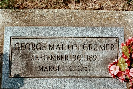 CROMER, GEORGE MAHON - Clinton County, Iowa | GEORGE MAHON CROMER