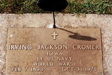 CROMER, IRVING JACKSON - Clinton County, Iowa | IRVING JACKSON CROMER