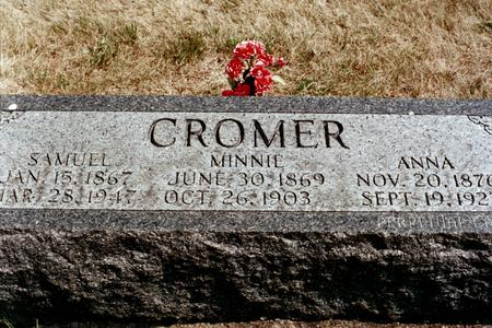 CROMER, MINNIE - Clinton County, Iowa | MINNIE CROMER