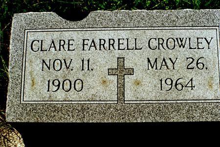 CROWLEY, CLARE - Clinton County, Iowa | CLARE CROWLEY