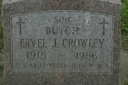 CROWLEY, ERVEL J. BUTCH - Clinton County, Iowa | ERVEL J. BUTCH CROWLEY