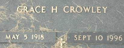 CROWLEY, GRACE H. - Clinton County, Iowa | GRACE H. CROWLEY