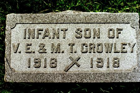 CROWLEY, INFANT SON - Clinton County, Iowa | INFANT SON CROWLEY