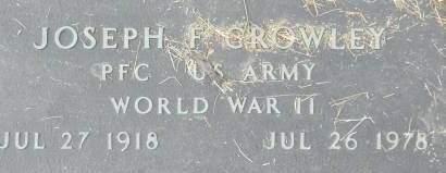 CROWLEY, JOSEPH F. - Clinton County, Iowa | JOSEPH F. CROWLEY