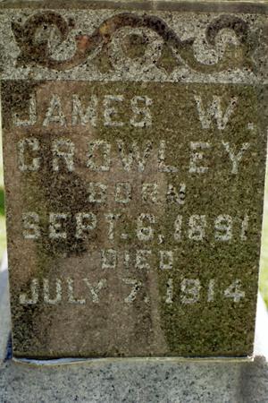 CROWLEY, JAMES W. - Clinton County, Iowa   JAMES W. CROWLEY