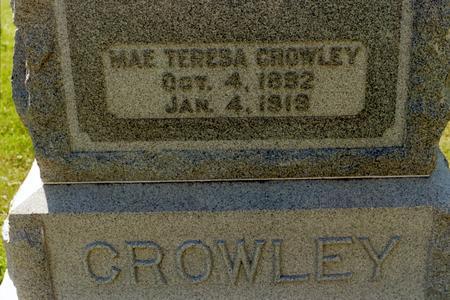 CROWLEY, MAE TERESA - Clinton County, Iowa | MAE TERESA CROWLEY