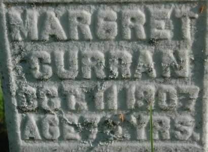 CURRAN, MARGRET - Clinton County, Iowa   MARGRET CURRAN