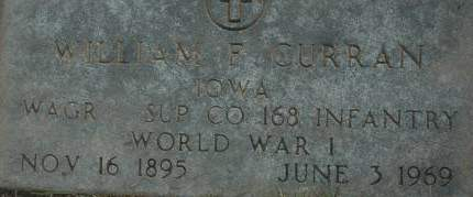 CURRAN, WILLIAM F. - Clinton County, Iowa | WILLIAM F. CURRAN