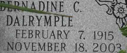 DALRYMPLE, BERNADINE C. - Clinton County, Iowa | BERNADINE C. DALRYMPLE