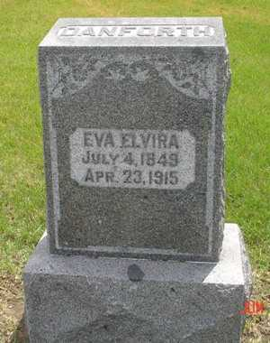 DANFORTH, EVA ELVIRA - Clinton County, Iowa   EVA ELVIRA DANFORTH