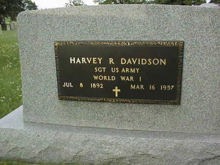 DAVIDSON, HARVEY R. - Clinton County, Iowa | HARVEY R. DAVIDSON