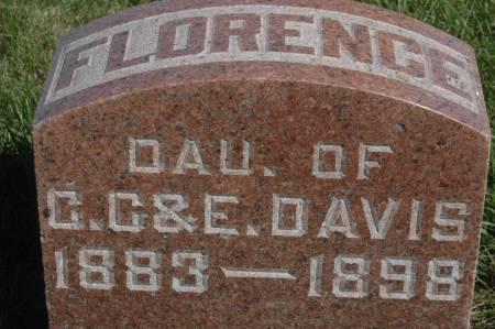 DAVIS, FLORENCE - Clinton County, Iowa   FLORENCE DAVIS