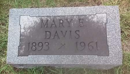 DAVIS, MARY E. - Clinton County, Iowa | MARY E. DAVIS