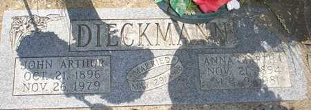 DIECKMANN, JOHN ARTHUR - Clinton County, Iowa   JOHN ARTHUR DIECKMANN