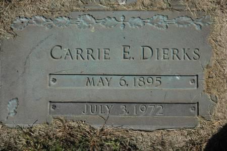 DIERKS, CARRIE E. - Clinton County, Iowa | CARRIE E. DIERKS