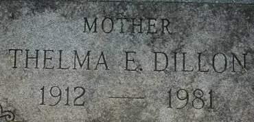 DILLON, THELMA E. - Clinton County, Iowa | THELMA E. DILLON