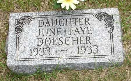 DOESCHER, JUNE FAY - Clinton County, Iowa | JUNE FAY DOESCHER