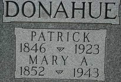 DONAHUE, MARY A. - Clinton County, Iowa | MARY A. DONAHUE