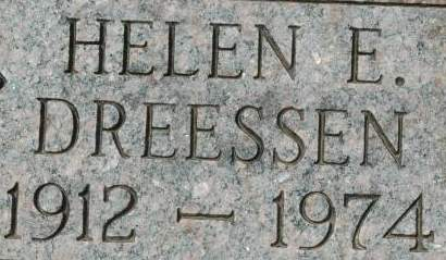 DREESSEN, HELEN E. - Clinton County, Iowa   HELEN E. DREESSEN