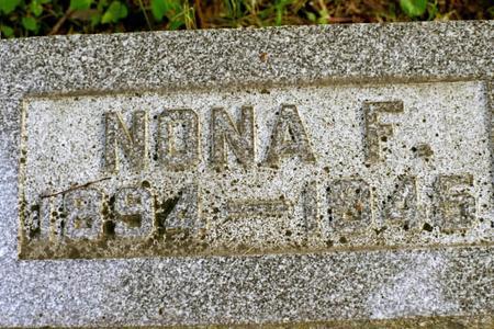 DUHR, NONA F. - Clinton County, Iowa | NONA F. DUHR