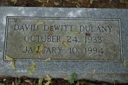 DULANY, DAVID DEWITT - Clinton County, Iowa   DAVID DEWITT DULANY