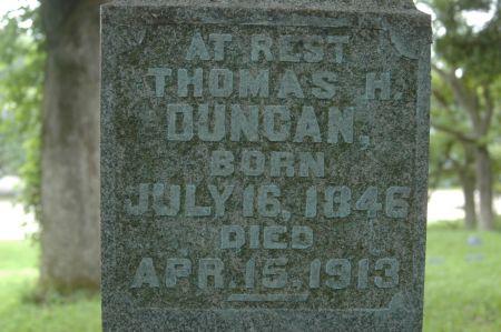 DUNCAN, THOMAS H. - Clinton County, Iowa | THOMAS H. DUNCAN