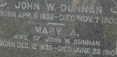 DUNNAN, MARY A. - Clinton County, Iowa | MARY A. DUNNAN