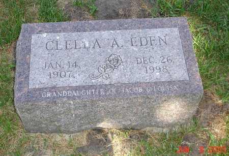 EDEN, CLELLA A. - Clinton County, Iowa | CLELLA A. EDEN