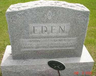 EDEN, AGNES B. - Clinton County, Iowa | AGNES B. EDEN