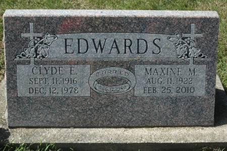 EDWARDS, MAXINE M. - Clinton County, Iowa   MAXINE M. EDWARDS