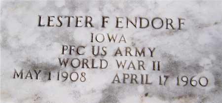 ENDORF, LESTER F. - Clinton County, Iowa | LESTER F. ENDORF