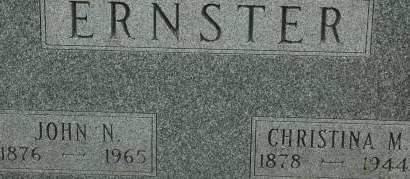 ERNSTER, JOHN N. - Clinton County, Iowa | JOHN N. ERNSTER