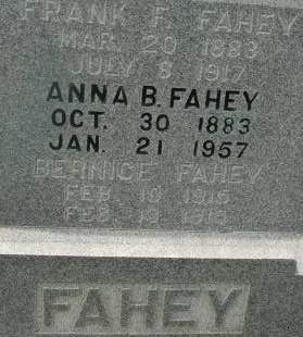 FAHEY, FRANK F. - Clinton County, Iowa | FRANK F. FAHEY