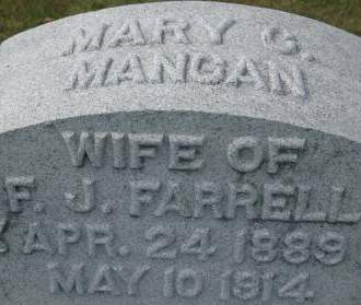 MANGAN FARRELL, MARY C. - Clinton County, Iowa | MARY C. MANGAN FARRELL