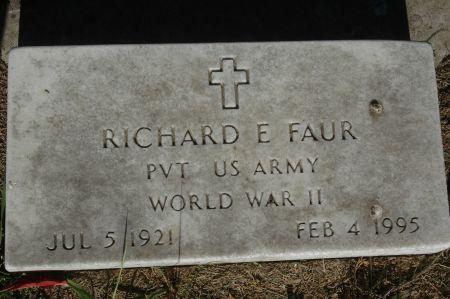FAUR, RICHARD E. - Clinton County, Iowa | RICHARD E. FAUR