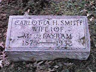 SMITH FAYRAM, CARLOTTA H - Clinton County, Iowa | CARLOTTA H SMITH FAYRAM