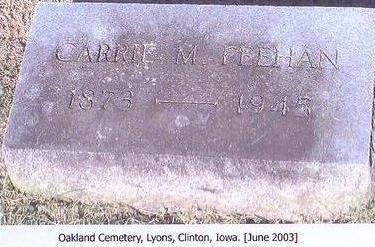 FEEHAN, CARRIE M. - Clinton County, Iowa | CARRIE M. FEEHAN