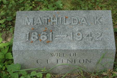 BERRIEN FENLON, MATHILDA K. - Clinton County, Iowa | MATHILDA K. BERRIEN FENLON