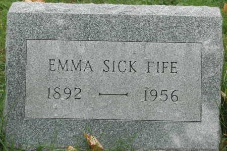 SICK FIFE, EMMA - Clinton County, Iowa   EMMA SICK FIFE