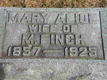 FINCH, MARY ALICE - Clinton County, Iowa   MARY ALICE FINCH