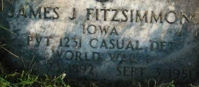 FITZSIMMONS, JAMES J. - Clinton County, Iowa | JAMES J. FITZSIMMONS