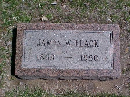 FLACK, JAMES W. - Clinton County, Iowa   JAMES W. FLACK